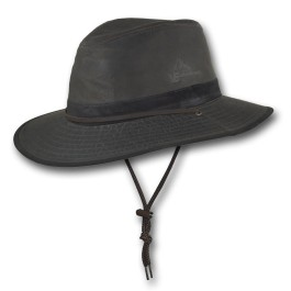 3520 Wide Brim Weathered Cotton Foldable Traveler Hat